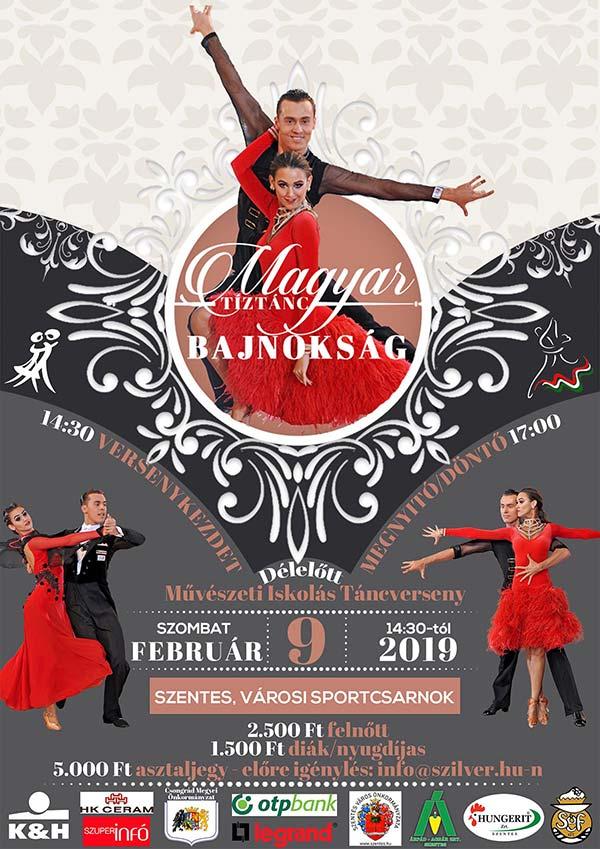 d23fbd42a6 2019. február 9-én rendezi meg a Szilver TSE a Magyar Tíztánc bajnokságot,  melyre várnak minden érdeklődőt! További információ a plakáton!