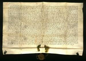 A Bor-Kalán nemzetség 1332. október 17-én kelt osztálylevele