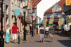 Nagy Ferenc sétálóutca a belvárosban