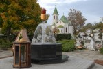 Dísz-szórókút a Kálvária temetőben